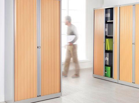 Bisley Tambour Door Unit Silver Beech Doors