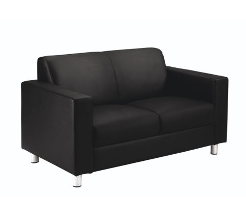 Bristol Black Leather Sofa