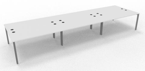 Saturn Six Person Table White 4800