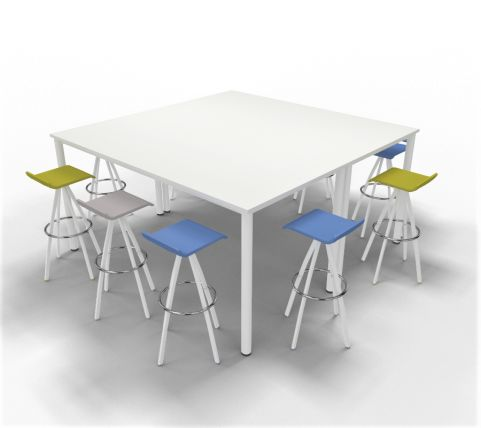High Table Render With Stools