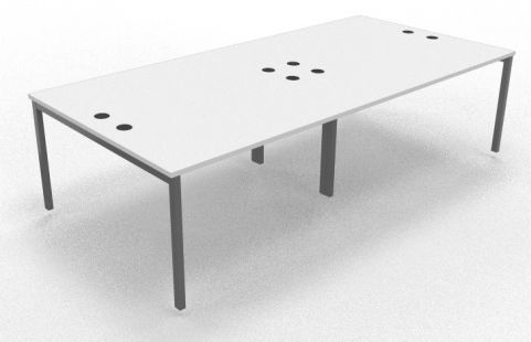 Mercury Four Person Table White 2800