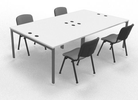 Mercury Four Person Table White Mood View