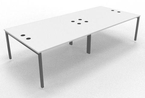 Mercury Four Person Table White