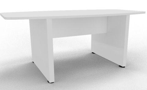 Draycott Barrel Meeting Table White