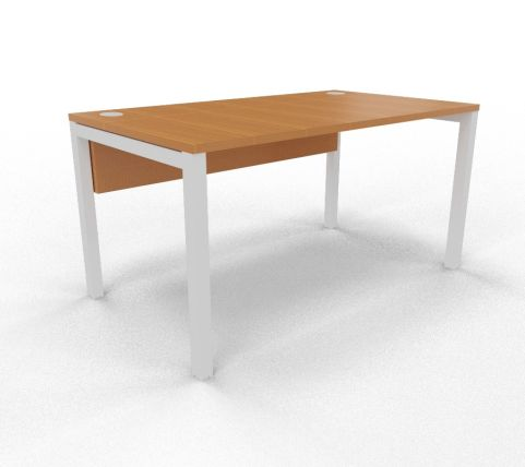 Draycott Bench Desk Beech Rear 1400