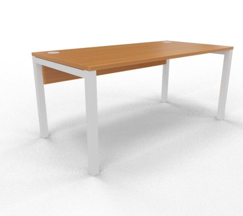 Draycott Bench Desk Beech Rear 1600