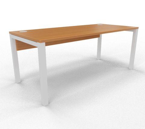 Draycott Bench Desk Beech Rear 1800