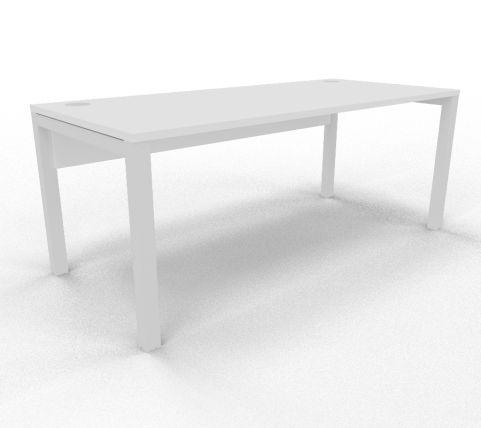 Draycott Bench Desk White Rear 1800