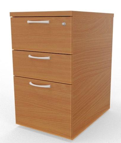 Draycott Desk Height Wooden Pedestal Beech