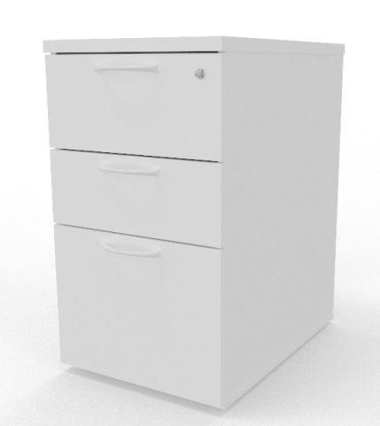 Draycott Desk Height Wooden Pedestal White