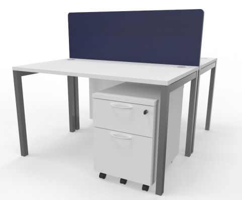 Draycott Two Person Bench Desk White 1200