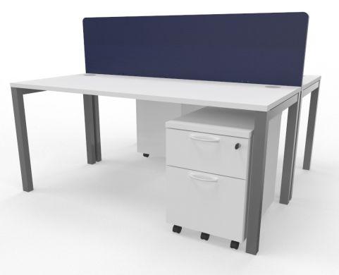 Draycott Two Person Bench Desk White 1600