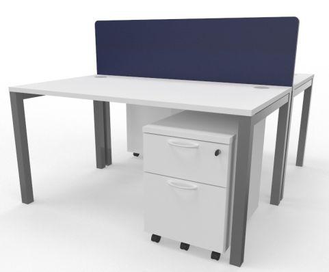 Draycott Two Person Bench Desk White