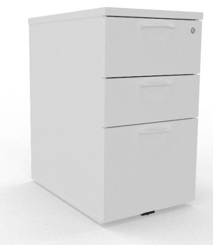 Draycott High Three Drawer Pedestal White