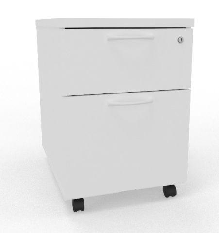 Draycott Mobile Pedestal White