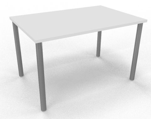 Draycott Rectangular Meeting Table White