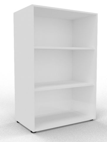 Draycott Wooden Bookcase 1200 White