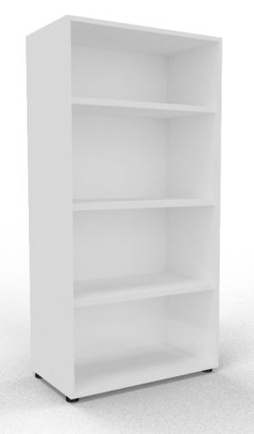 Draycott Wooden Bookcase 1600 White