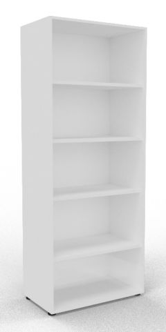 Draycott Wooden Bookcase 2000 White