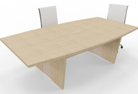 Biarritz Two Tone Boardroom Table Bleached Oak