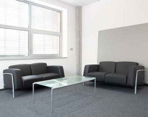 Classique Black Leather Sofa Set Chrome Frame