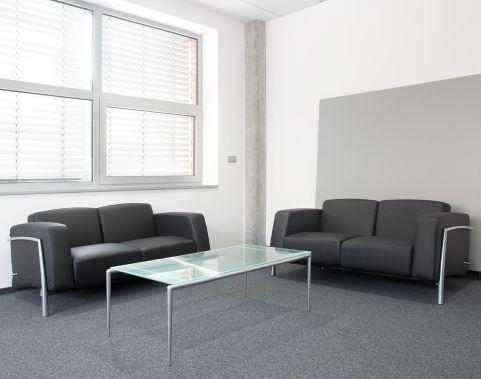 Classique-black-leather-sofa-set-chrome-frame-compressor Mood Shot