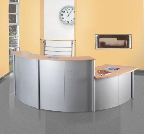 Genua Reception Desk 2 X 45 Degree Units And 1 X DDA Unit