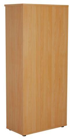 Ziggy Wooden Double Door Cupboard In Beech Rear View