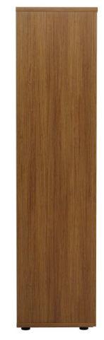 Ziggy Wooden Double Door Cupboard In Light Walnut Side View