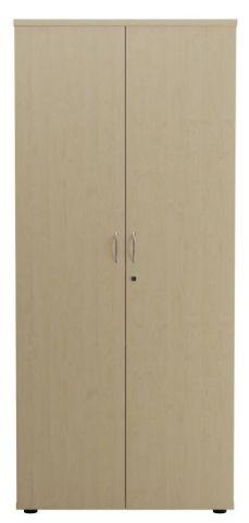 Ziggy Wooden Double Door Cupboard In Maple Front View