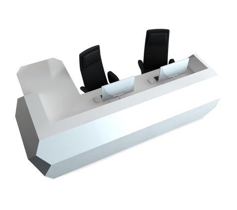 Corian Share White Twin Desk