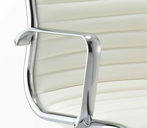 Ritz Arm Chair White Ivory Leather