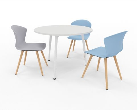 Small Round Meeting Table Elica Office Reality