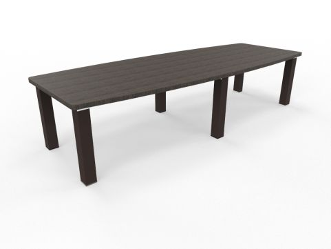 Tao BoardroomTable 3200mm Boat Shaped