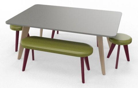 BODO Coloured Boardroom Table Bundle Claret Violet
