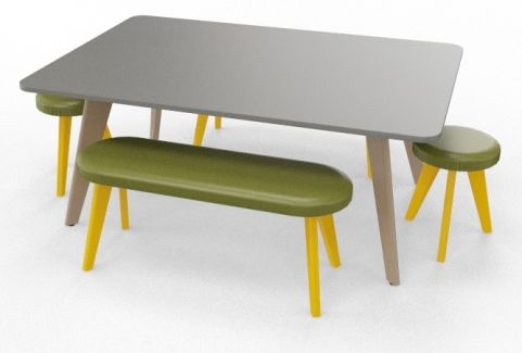 BODO Coloured Boardroom Table Bundle Colza Yellow