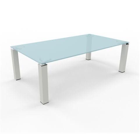 Tao Boardroom Table Glass Aluminium Leg 2400mm X 1200mm
