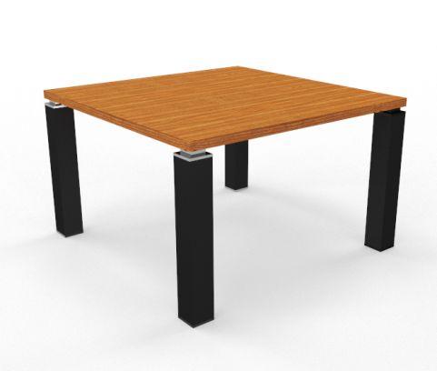 Tao Boardroom Table 1200mm X 1200mm Cherry Top Black Leg