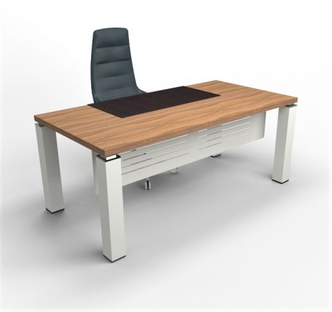 Tao Executive Desk 1800mm Wide Walnut Top With Aluminium Leg