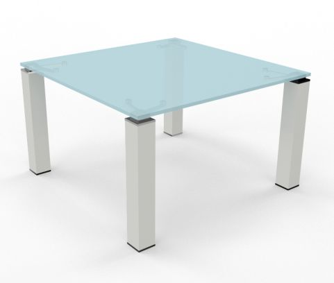 Tao Glass Square Boardroom Table 1200mm X 1200mm