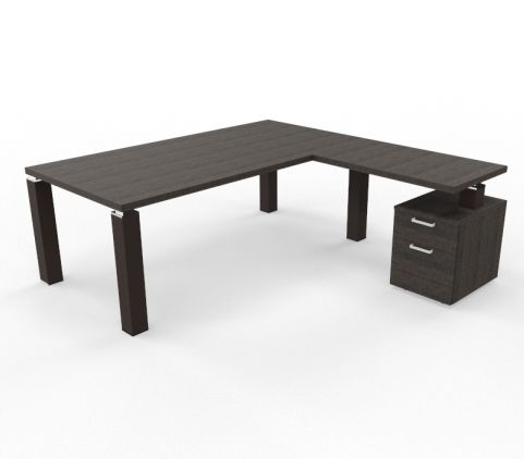 Tao Executive Desk 2000mm X 1000mm With Return And Pedestal