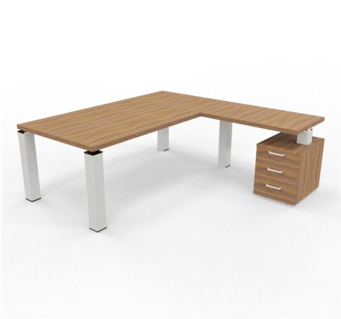 TAO Executive Desk With Three Drawer Pedestal And Return
