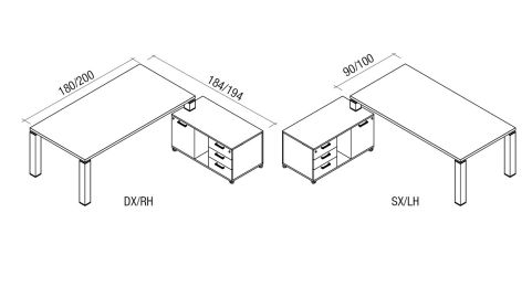 Dimension Of Tao Unit With Service Credenza