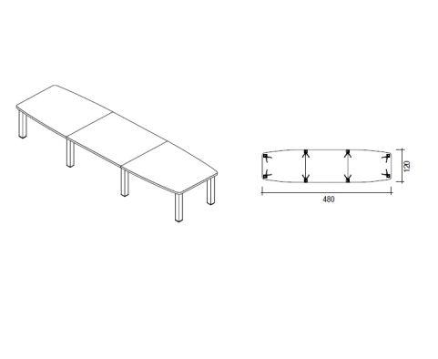 Tao Boardroom Table 4800mm X 1200mm