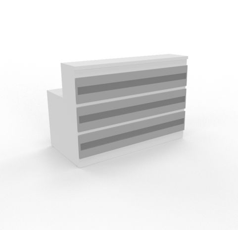 Majestic Aluminium Reception Desk