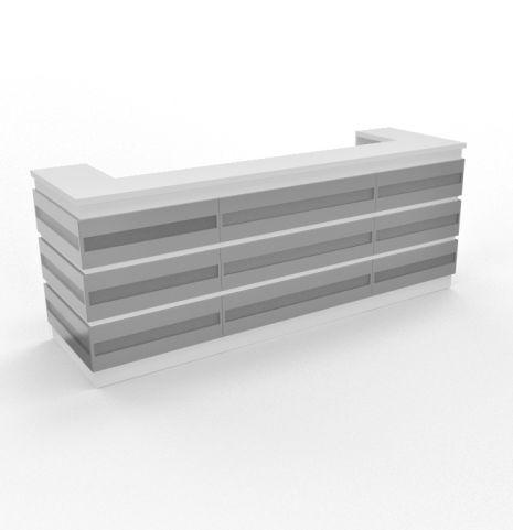 Majestic Aluminium Reception Desk Straight