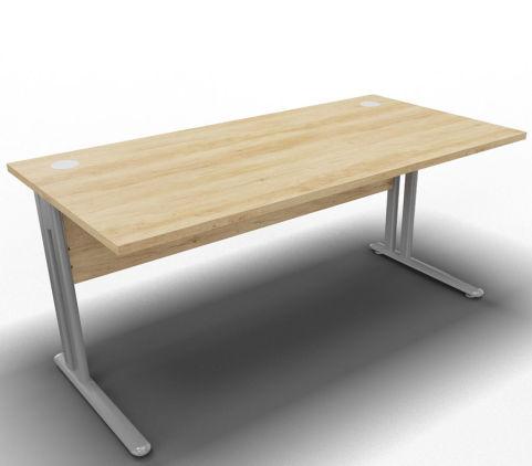 Optimize Single Desk Nebraska Oak