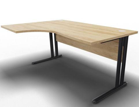 Optimize Left Hand Cantilever Desk Nebraska Oak Angle