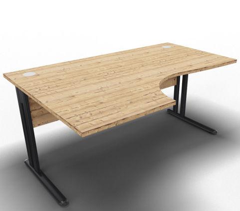 Optimize Left Hand Cantilever Desk Timber
