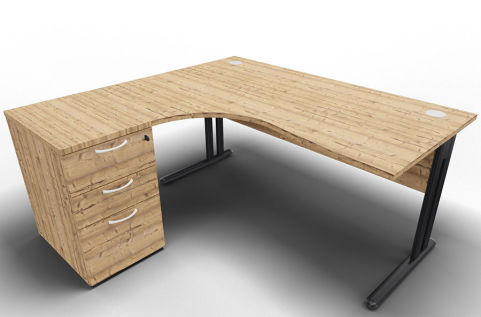 Optimize Left Hand Corner Desk And Timber
